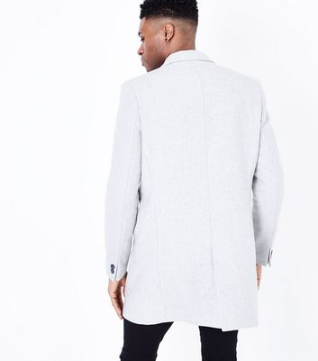 Grey Wool Overcoat New Look