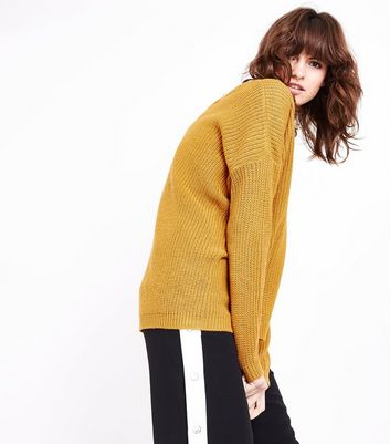 Blue Vanilla Yellow Cross Back Detail Jumper New Look