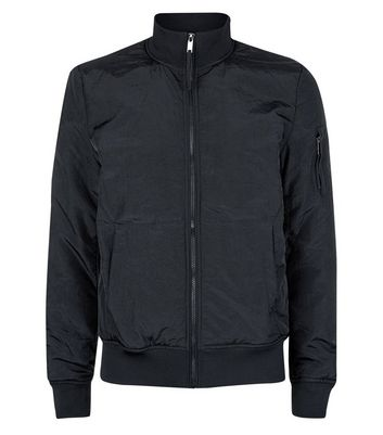Black Funnel Neck Jacket New Look