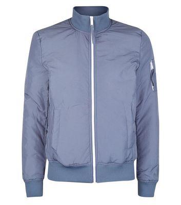 Pale Blue Funnel Neck Jacket New Look