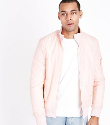 Mid Pink Funnel Neck Jacket New Look