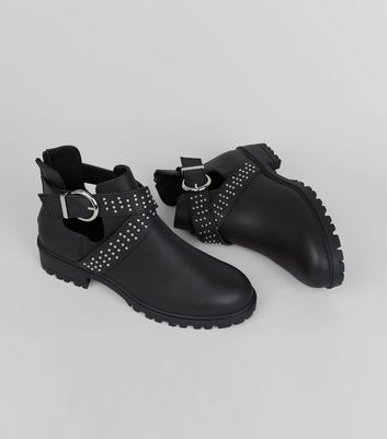 Teens Black Cut Out Boots New Look