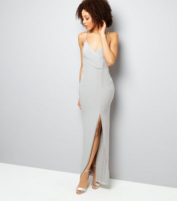 AX Paris Grey Split Side Dress New Look