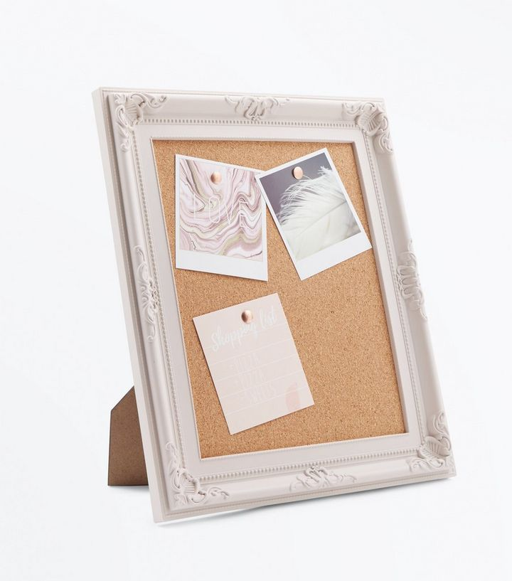 Pale Pink Cork Board Frame | New Look