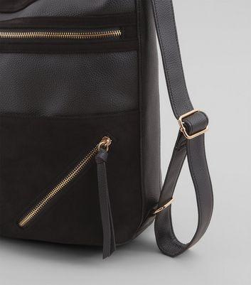 Black Zip Panel Shoulder Bag New Look