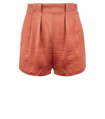 Pink Satin Pyjama Shorts New Look