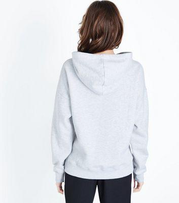 Pale Grey Oversized Hoodie New Look