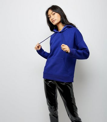 Blue Oversized Hoodie New Look