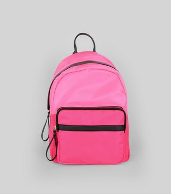 Pink Neon Backpack New Look