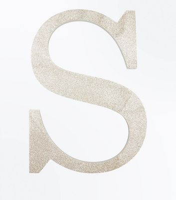 Gold Glitter Decorative S Initial New Look