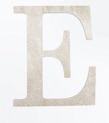 Gold Glitter Decorative E Initial New Look