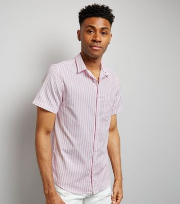 Pink Stripe Short Sleeve Shirt New Look