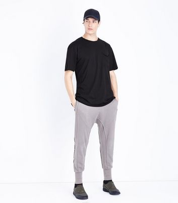 Black Pocket Front Boxy T-Shirt New Look