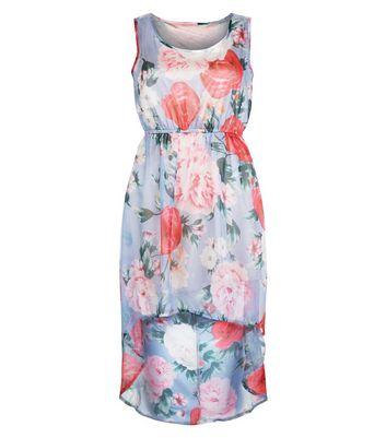 Mela Blue Floral Print Dress New Look