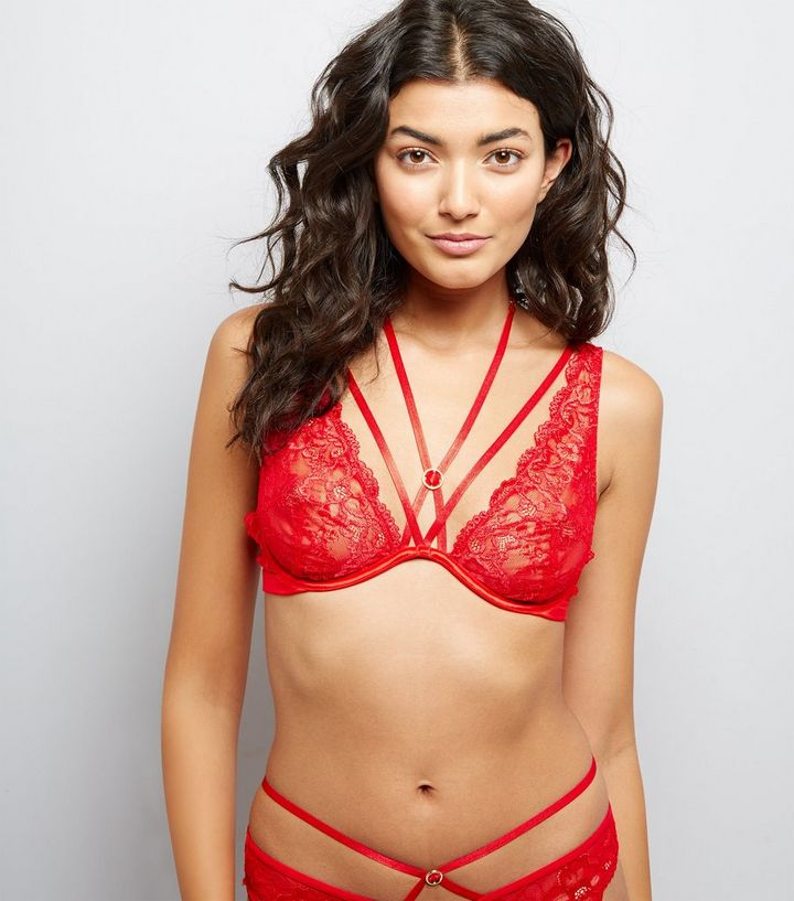 ce8c77f8a Red Strappy Lace Bralette