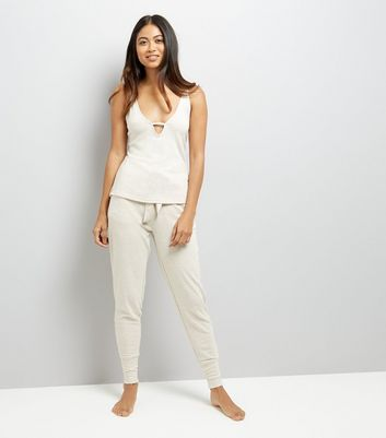 Petite Satin Trim Pyjama Cami New Look