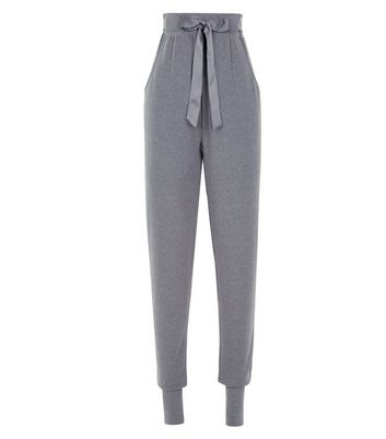 Tall Satin Belt Brushed Jersey Pyjama Joggers New Look