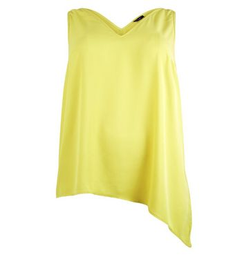 Curves Yellow Asymmetric Cami Top New Look