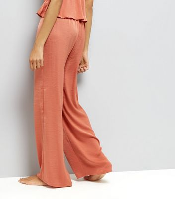 Tall Pink Wide Leg Pyjama Bottoms New Look