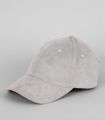 Grey Suedette Cap New Look