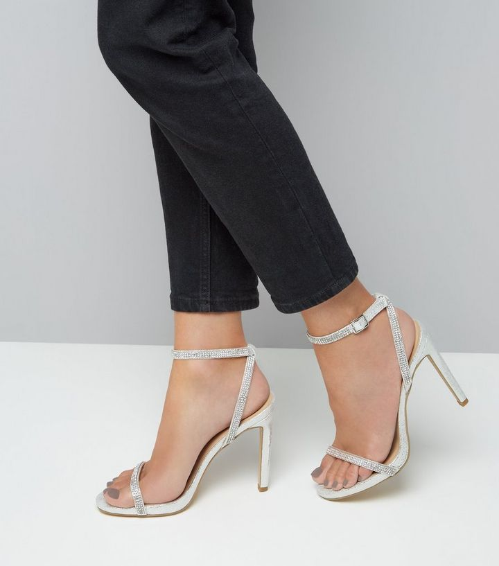 62c02a5802e ... Silver Diamante Embellished Heeled Sandals. ×. ×. ×. VIDEO Shop the look