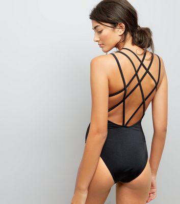 black-bird-print-swimsuit