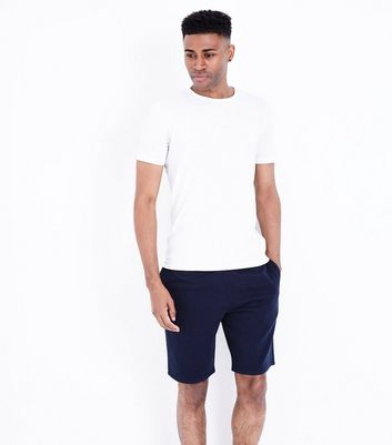 Navy Basic Jersey Shorts New Look