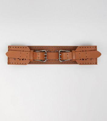 Tan Cut Out Waist Belt New Look