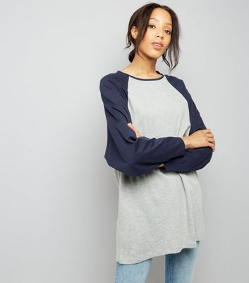 Noisy May Pale Grey Batwing Sleeve Oversized T-Shirt New Look