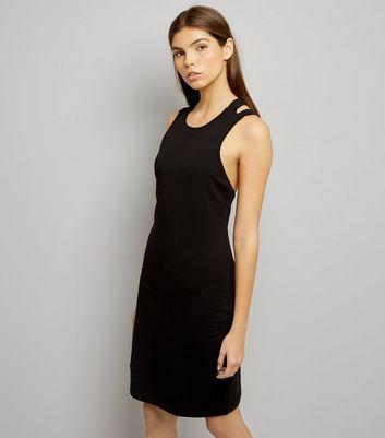 Noisy May Black Cross Strap Back Dress New Look