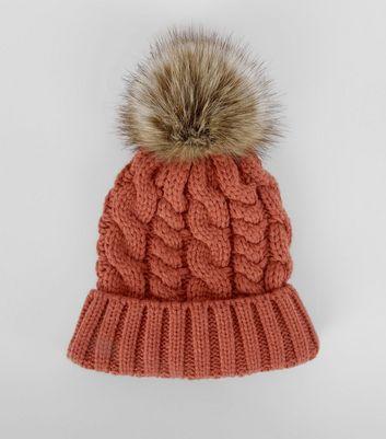 orange-faux-fur-pom-pom-bobble-hat