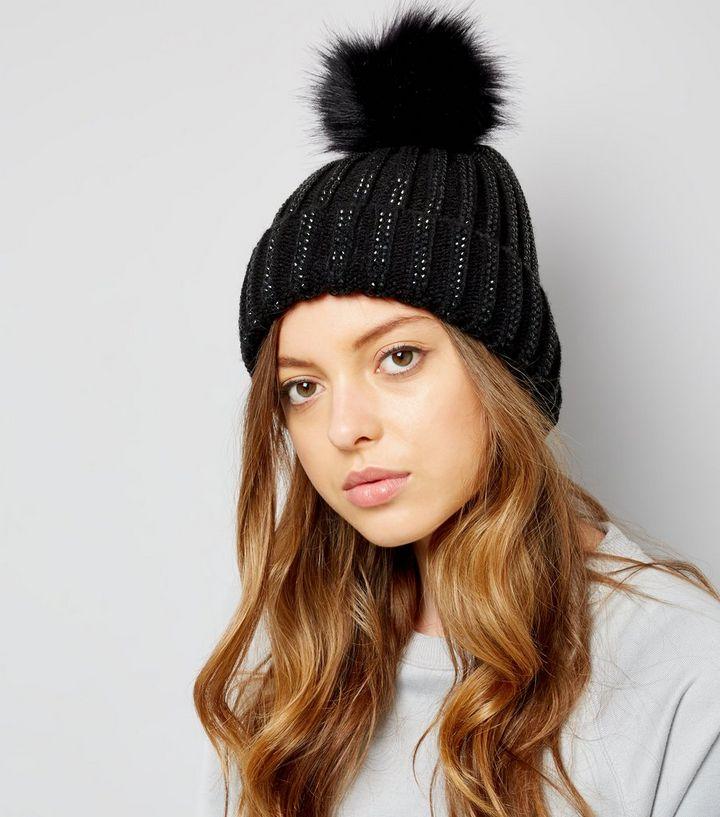 ... Black Diamante Embellished Bobble Hat. ×. ×. ×. Shop the look 9b68d819c99