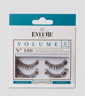 2 Pack Volume False Eyelashes New Look
