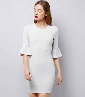 AX Paris Grey Bell Sleeve Dress