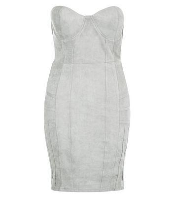 AX Paris Grey Bandeau Dress New Look