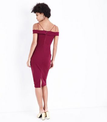 AX Paris Plum Strappy Midi Dress New Look