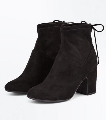 black-suedette-block-heel-sock-boots