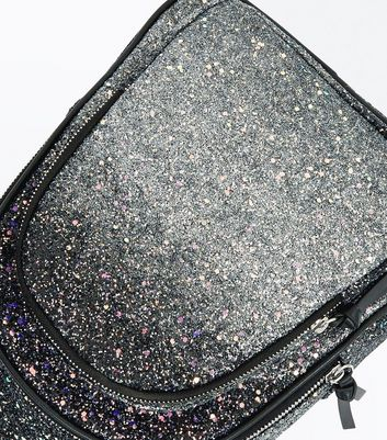 Silver Ombre Glitter Mini Backpack New Look