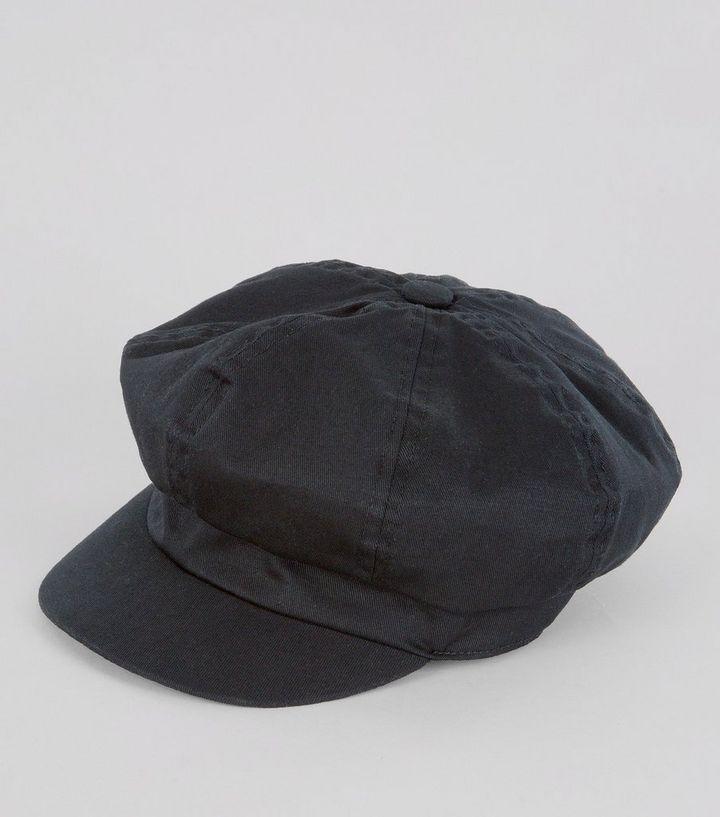 Black Baker Boy Hat  5943120f5cd