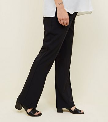 Maternity Black Over Bump Wide Leg Trousers New Look