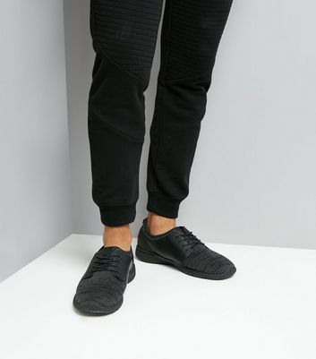 Black Textured Trainers New Look