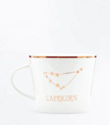 Shell Pink Capricorn Zodiac Mug New Look