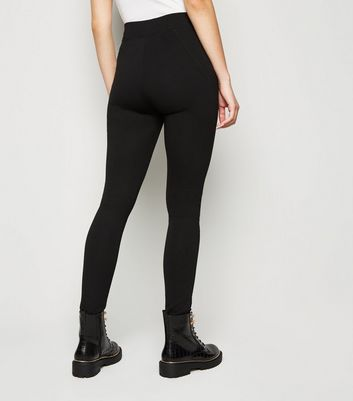 Black Zip Pocket Leggings New Look