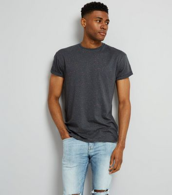 Grey Spray Wash T-Shirt New Look