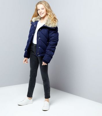 teens-navy-chevron-panel-quilted-jacket