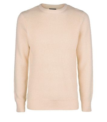 Pink Textured Crew Neck Jumper New Look