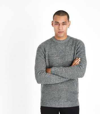 Grey Textured Crew Neck Jumper New Look