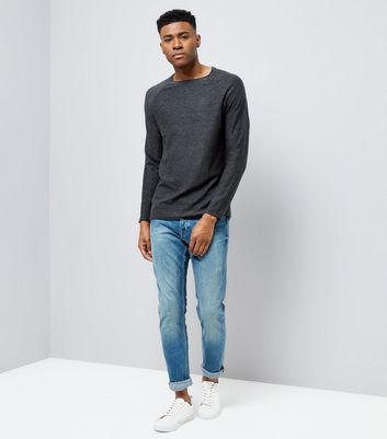 Black Stitch Trim Jumper New Look