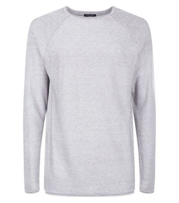 Grey Stitch Trim Jumper New Look
