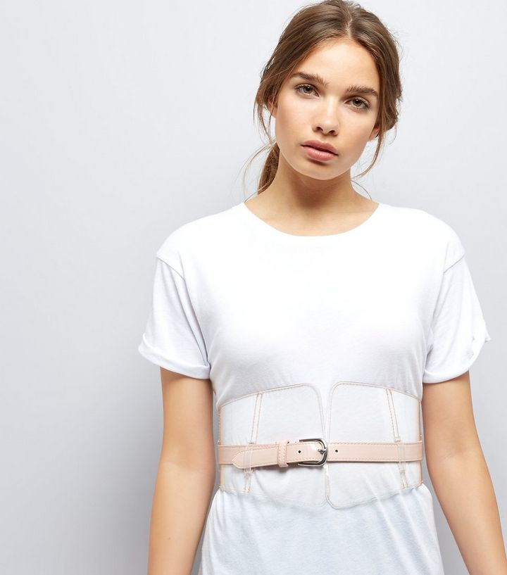 9006daaa81 Home · Clear Nude Pink Buckle Front Corset Belt. ×. ×. ×. Shop the look